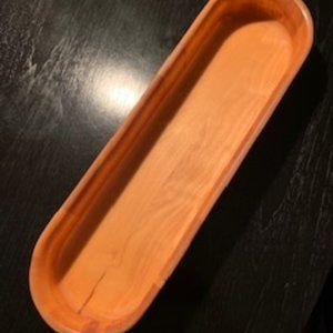 Willliams Sonoma Wood Long Oval Bowl